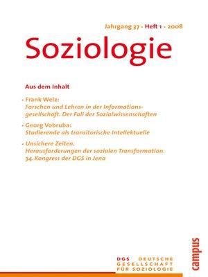 cover image of Soziologie 1.2010