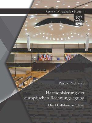cover image of Harmonisierung der europäischen Rechnungslegung