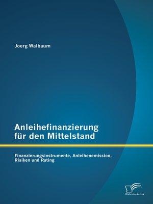cover image of Anleihefinanzierung für den Mittelstand