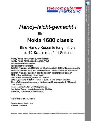 cover image of Nokia 1680 classic-leicht-gemacht
