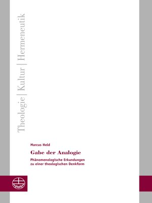 cover image of Gabe der Analogie
