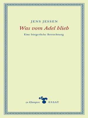 cover image of Was vom Adel blieb