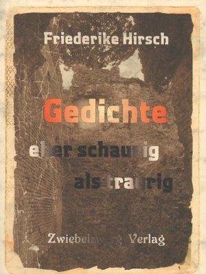 cover image of Gedichte eher schaurig als traurig