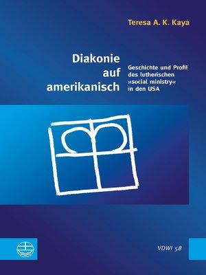 cover image of Diakonie auf amerikanisch