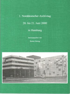 cover image of Norddeutscher Archivtag (1.)
