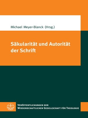 cover image of Säkularität und Autorität der Schrift