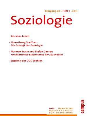 cover image of Soziologie 2.2011