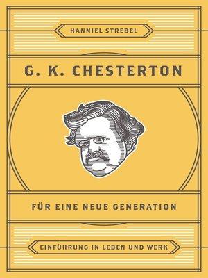cover image of Chesterton für eine neue Generation