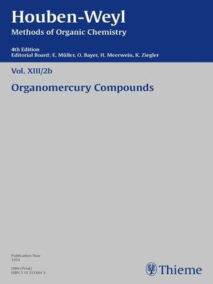 cover image of Houben-Weyl Methods of Organic Chemistry Volume XIII/2b