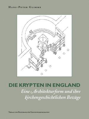 cover image of Die Krypten in England