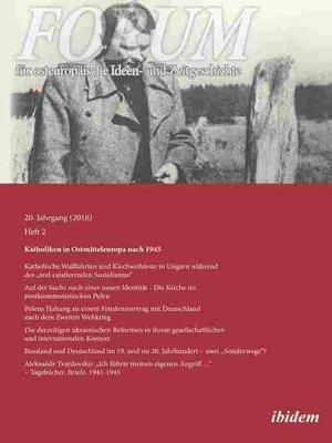cover image of Forum für osteuropäische Ideen- und Zeitgeschichte 20