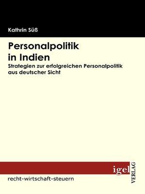 cover image of Personalpolitik in Indien