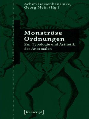 cover image of Monströse Ordnungen