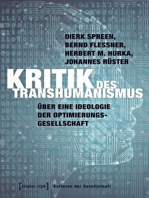 cover image of Kritik des Transhumanismus