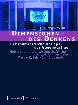 cover image of Dimensionen des Denkens