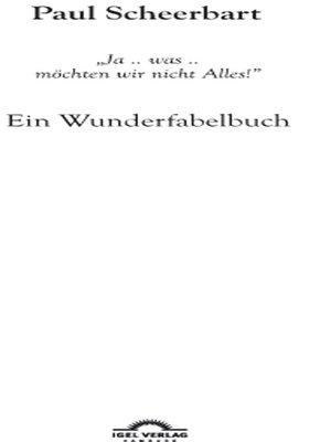 cover image of Paul Scheerbart