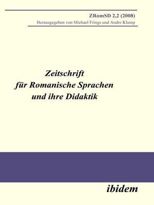 cover image of Zeitschrift für Romanische Sprachen und ihre Didaktik