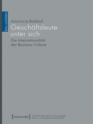 cover image of Geschäftsleute unter sich