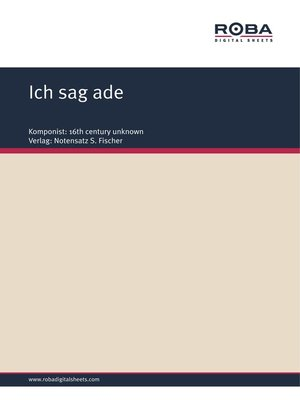 cover image of Ich sag ade