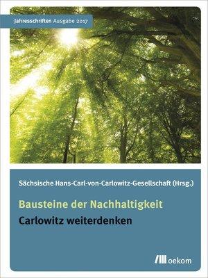 cover image of Bausteine der Nachhaltigkeit