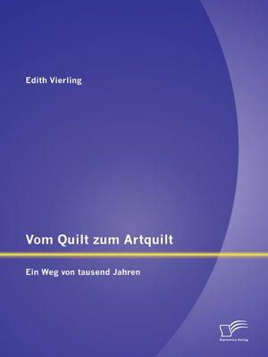 cover image of Vom Quilt zum Artquilt