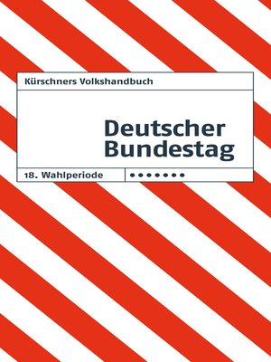 cover image of Kürschners Volkshandbuch Deutscher Bundestag