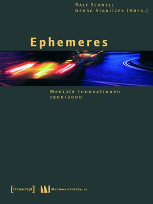 cover image of Ephemeres