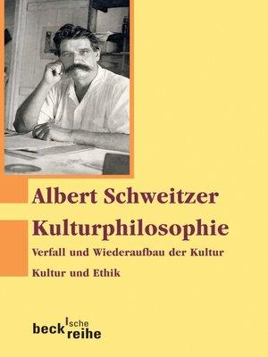 cover image of Kulturphilosophie