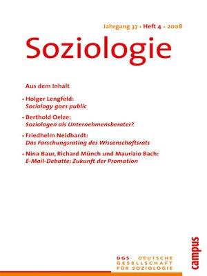 cover image of Soziologie 4.2008