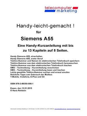 cover image of Siemens A55-leicht-gemacht