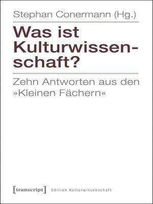 cover image of Was ist Kulturwissenschaft?
