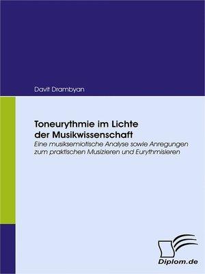cover image of Toneurythmie im Lichte der Musikwissenschaft