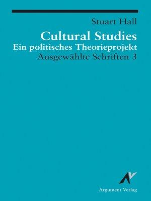 cover image of Cultural Studies
