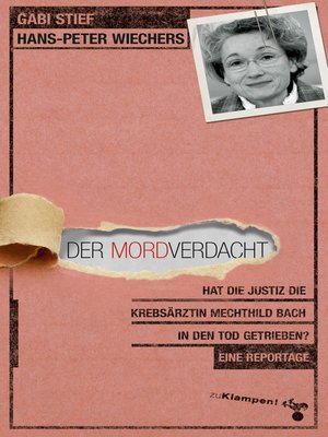 cover image of Der Mordverdacht