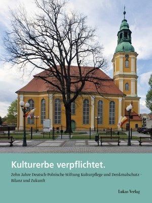cover image of Kulturerbe verpflichtet