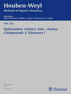 cover image of Houben-Weyl Methods of Organic Chemistry Volume X/2