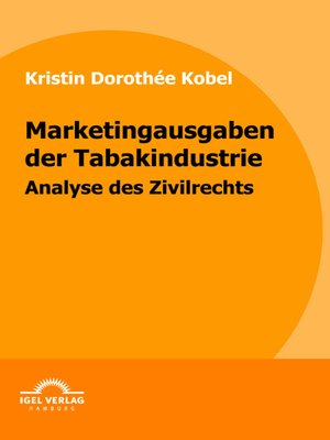 cover image of Marketingausgaben der Tabakindustrie