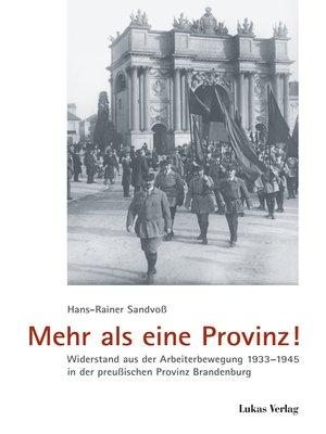 cover image of Mehr als eine Provinz!