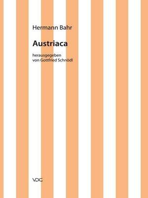 cover image of Austriaca