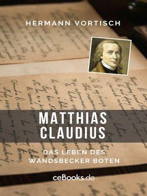 cover image of Matthias Claudius