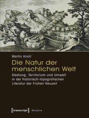 cover image of Die Natur der menschlichen Welt