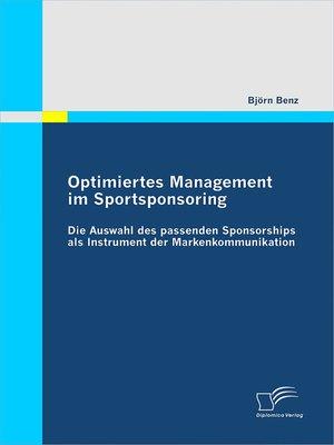 cover image of Optimiertes Management im Sportsponsoring