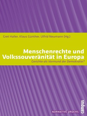 cover image of Menschenrechte und Volkssouveränität in Europa