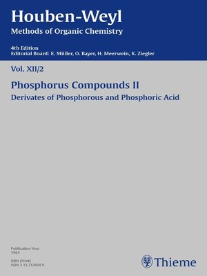 cover image of Houben-Weyl Methods of Organic Chemistry Volume XII/2