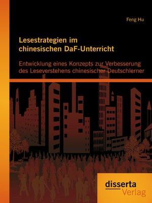 cover image of Lesestrategien im chinesischen DaF-Unterricht