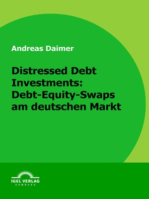 cover image of Distressed Debt Investments