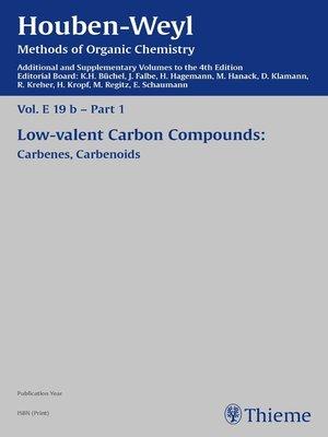 cover image of Houben-Weyl Methods of Organic Chemistry Volume E 19b Supplement