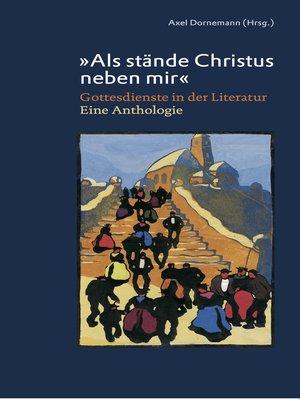 """cover image of """"Als stände Christus neben mir"""""""