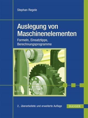 cover image of Auslegung von Maschinenelementen