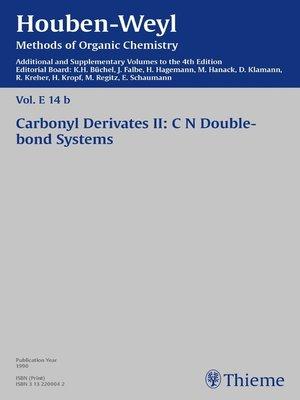 cover image of Houben-Weyl Methods of Organic Chemistry Volume E 14b Supplement